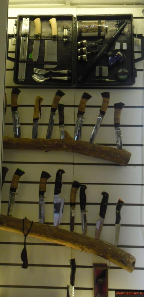 Большой выбор ножей для охотников, рыбаков, туристов.